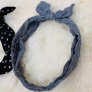 Retro Blue Striped Headband